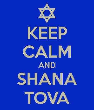 "Jewish star with the words ""Keep Calm and Shana Tova"""