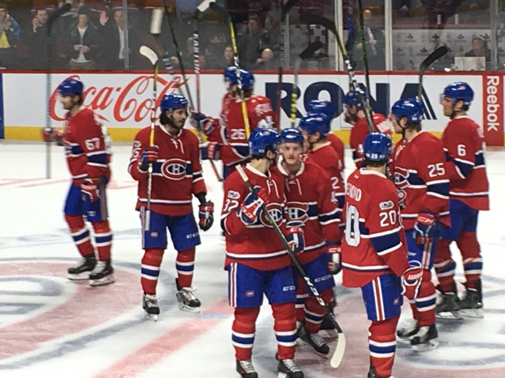 Montreal Canadiens salute their fans